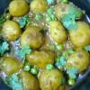 Potato-Peas Curry/Aloo-Matar Gravy/Bengali Aloo-Karaishunti