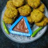White Chickpeas Fritters/Kabuli Chana Pakoda/Felafel In Bengali Style.