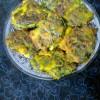 Pointed Gourd (Parwal) Leaves Fritters/Palta Patar Pakora.