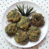 Coriander Leaves Fritters/Cilantro Fritters/Dhonepatar Bora