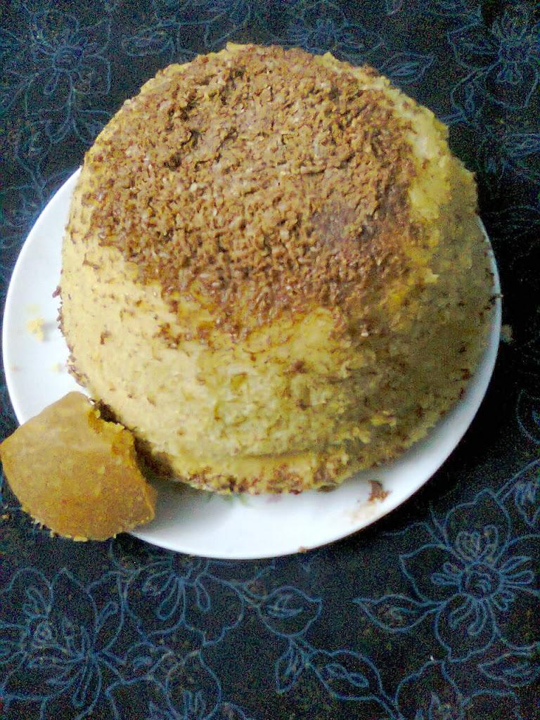 Microwave Jaggery Cake