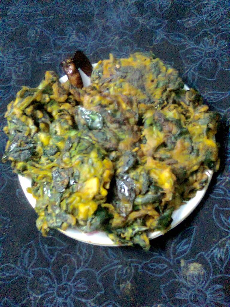 Fenugreek Leaves Pakora/Methi Leaves Bora/Healthy Pakora