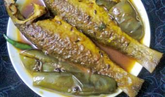 Light Gravy Of Bata Maach (Reba Carp) With Eggplant (Begun)