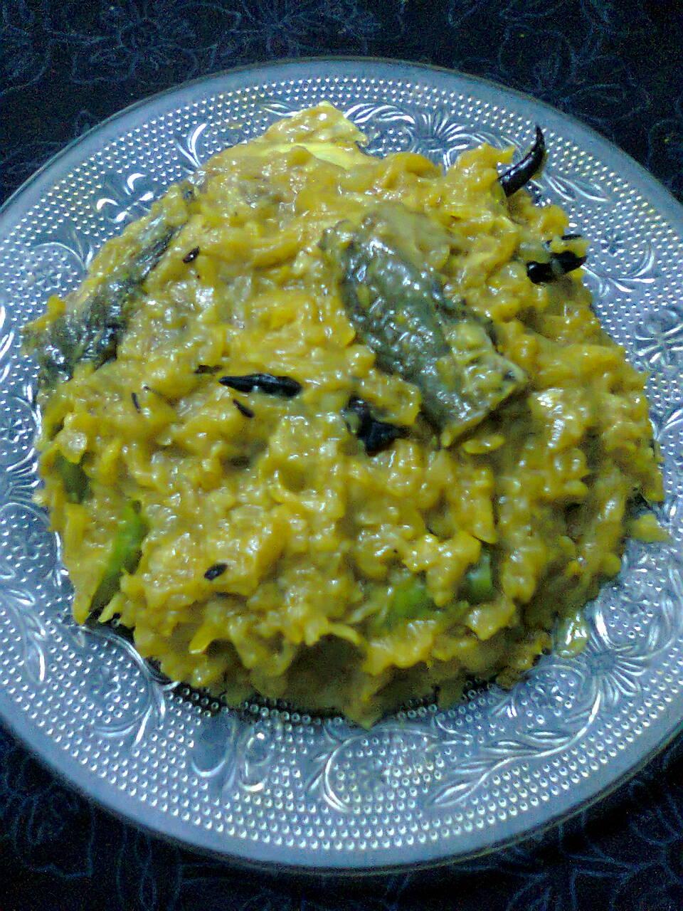 Pumpkin – Ash Gourd Curry With Hilsha Fish Head / Illish Macher Matha O Chal Kumro – Misti Kumro
