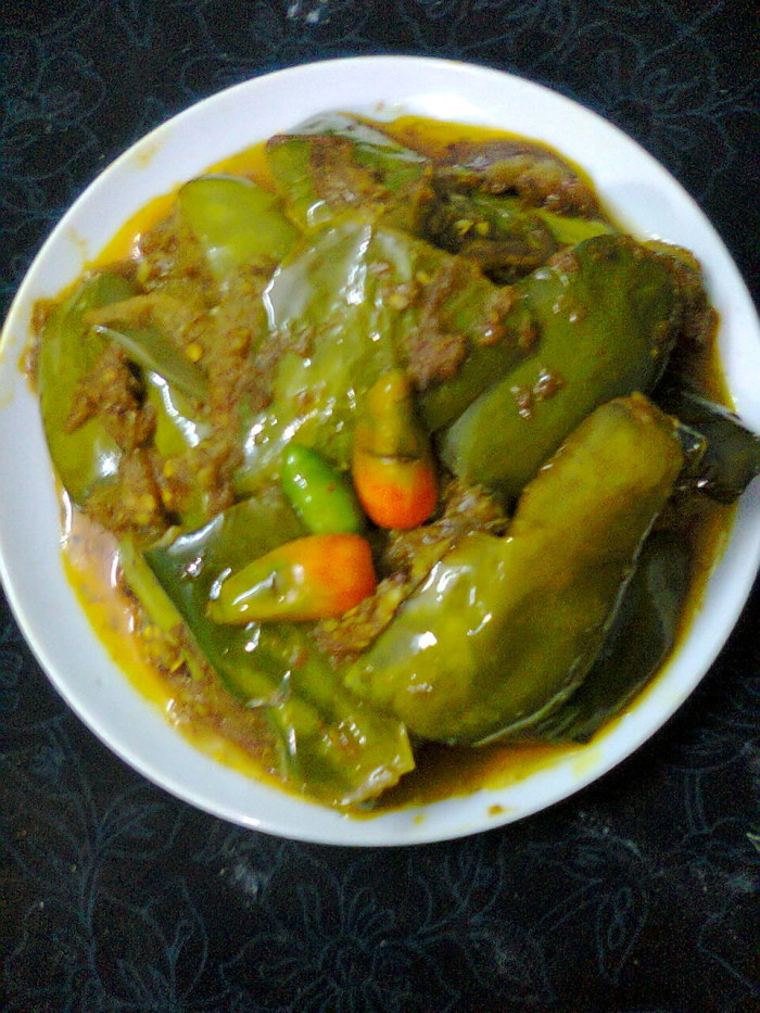Veg. Side Dish  –  Dahi Brinjal / Eggplant With Yogurt(Curd)