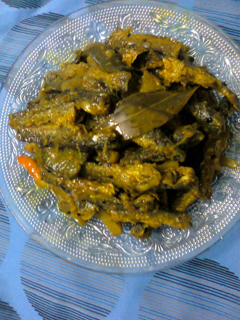 Dry Curry OF Tengra Fish With Vegetables/Tengra Subji – Jhal