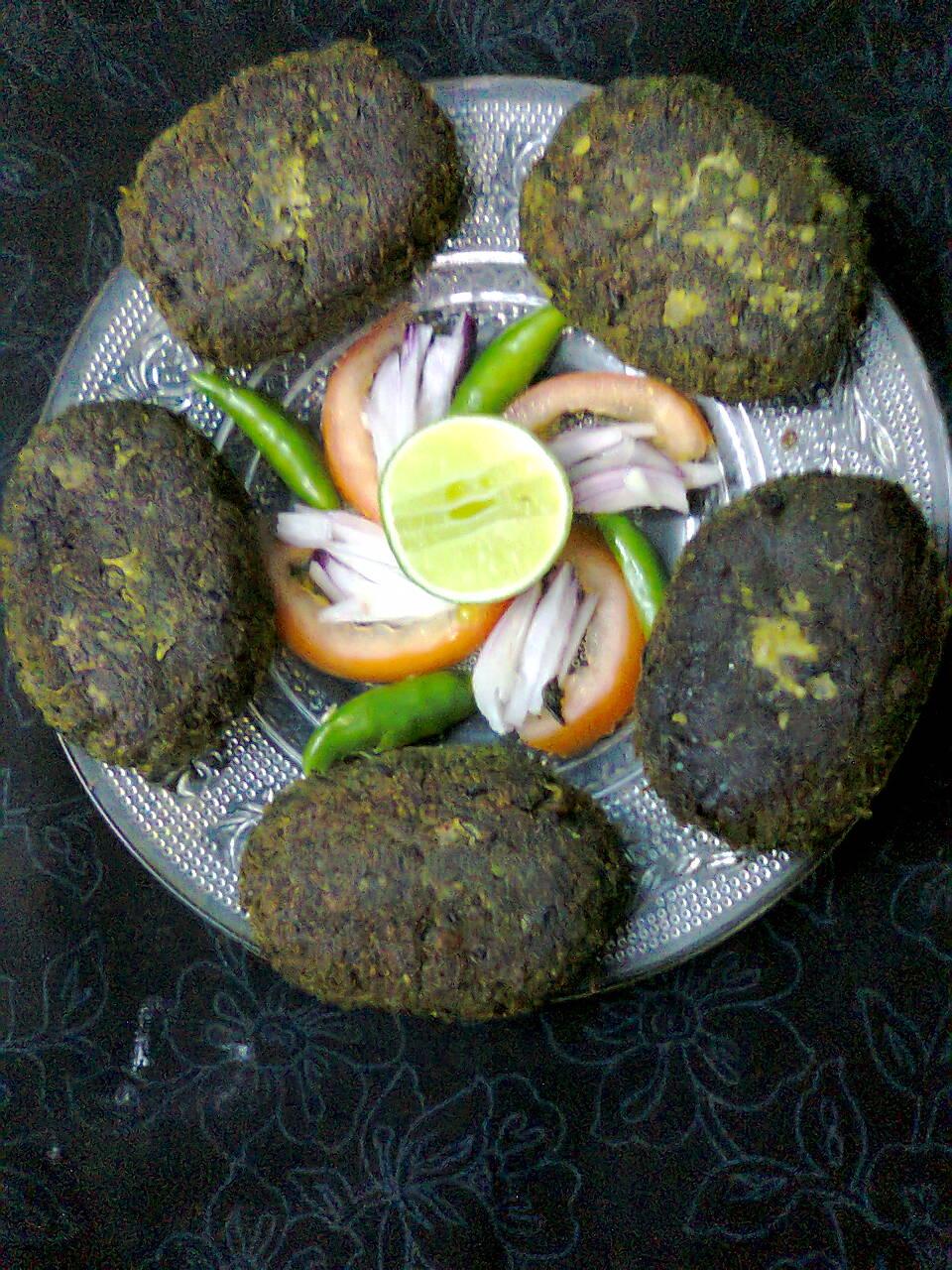 Tasty And Healthy Snacks  –  Spinach–Paneer Kebab Recipe