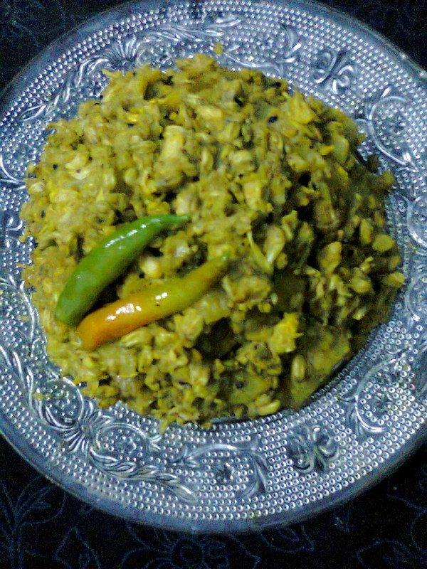 Vegetarian Side Dish – Drumstick Flowers Curry / Sojne fuler Torkari