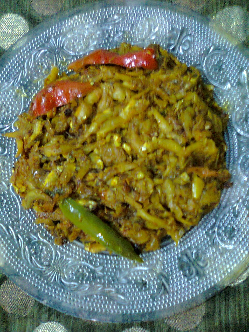 Dry Dish Of Kachki Fish / Kachki Macher Paturi