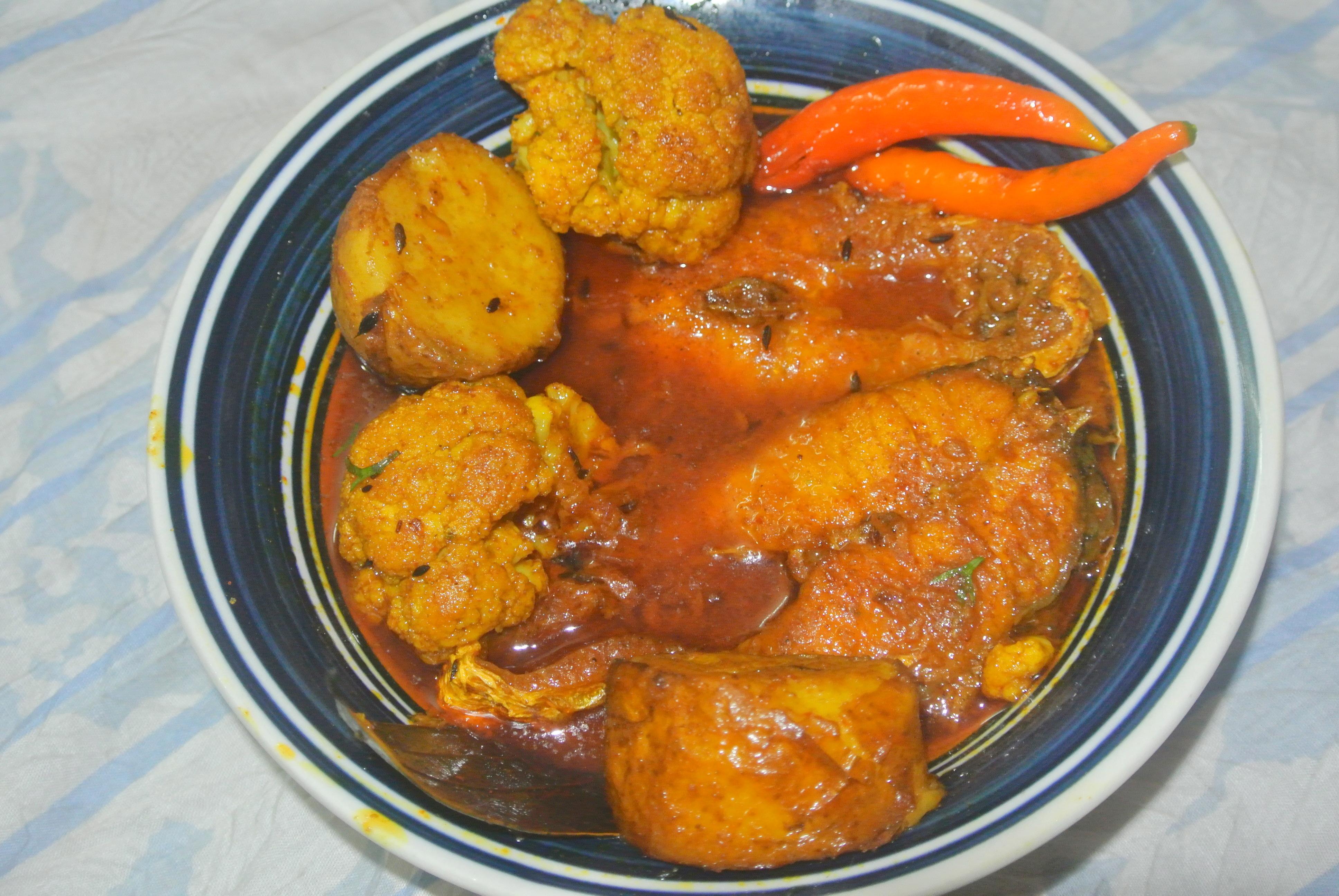 Bhetki Fish With Cauliflower