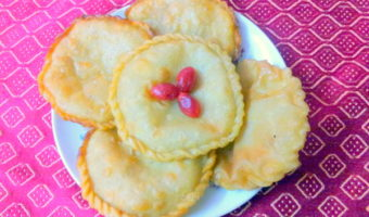 Home Made Bengali Sweet–Kheer/Mawa Stuffed Luchi