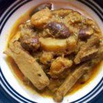 Bengali Curry Made With Danta,Jackfruit Seeds And Shrimps.