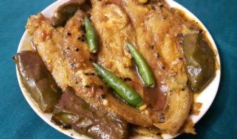 Bengali Recipe–Pabda Fish With Eggplant